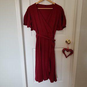 Burgundy Plus Size Long dress